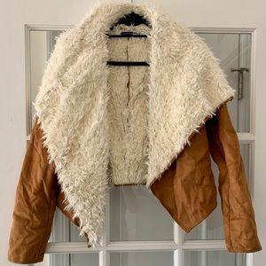 Faux Fur & Suede Jacket